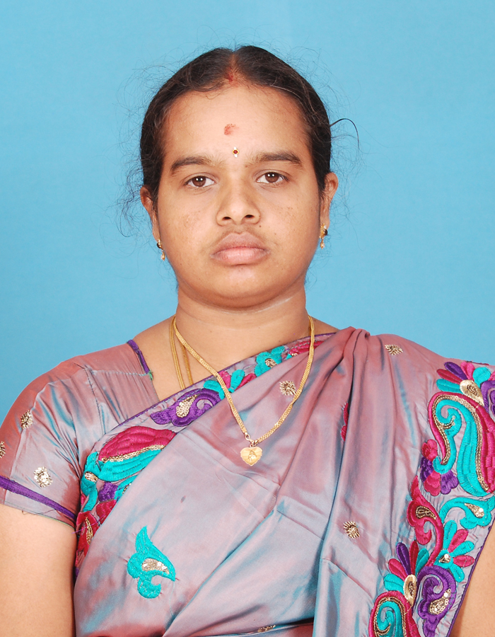 Ms. P Meena,M.Sc.,M.Phil. : Assistant Professor